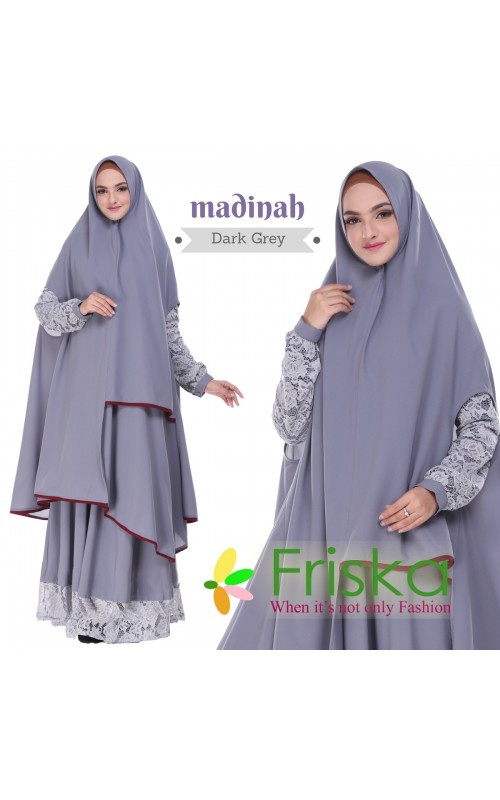 Madinah Dress By friska fashion Dark Grey