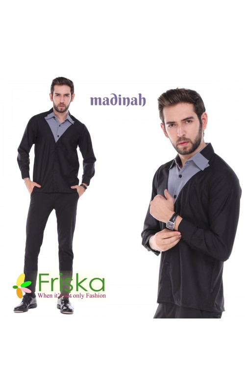 Madinah Hem By friska fashion Black