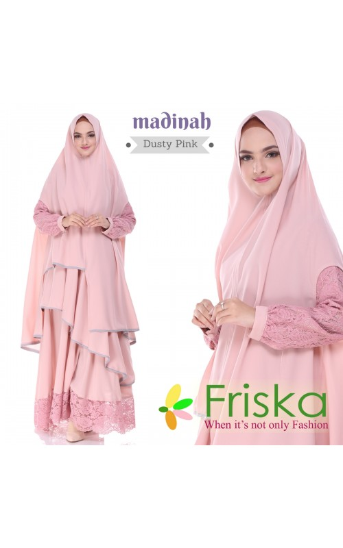 Madinah Dress By friska fashion Dusty Pink