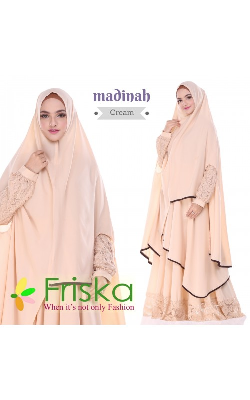 Madinah Dress By friska fashion Cream