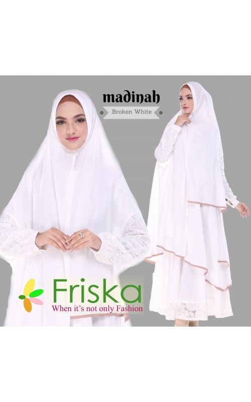 Madinah Dress By friska fashion Broken White