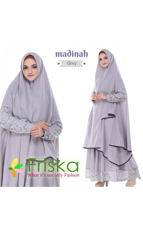 Madinah Dress By friska fashion Grey