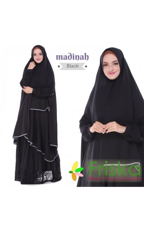 Madinah Dress By friska fashion Black